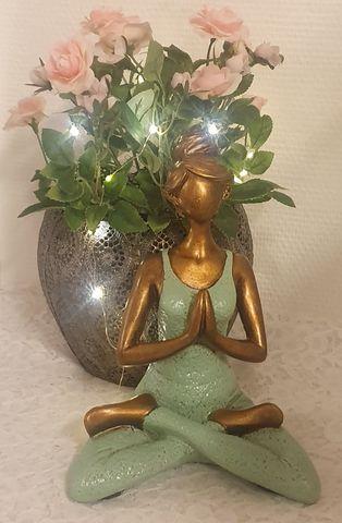 Yoga kvinna - Ljusgrön