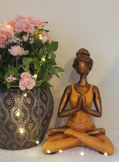 Yoga kvinna - Orange