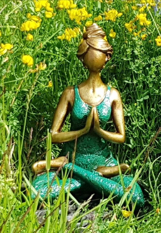 Yoga kvinna - Mörkgrön