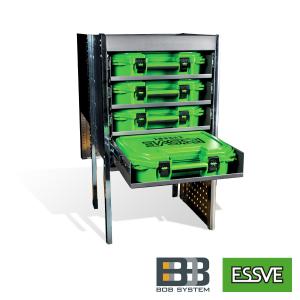 Essbox bilrack för 4 väskor mini