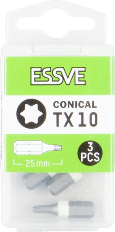 Bits TX Koniska 25mm, 3-Pack