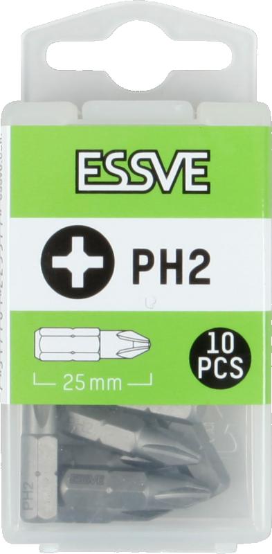Bits PH2, 25mm, 10 - pack