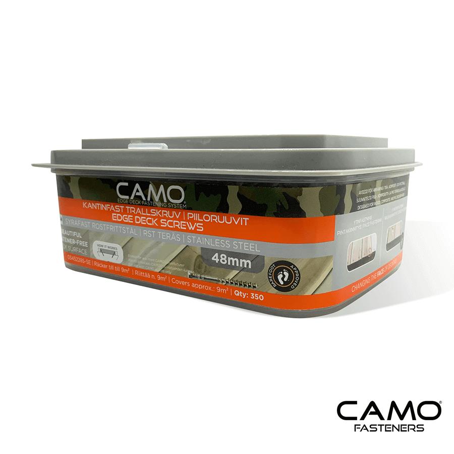 camo trallskruv 48 mm rostfri a4 350 st