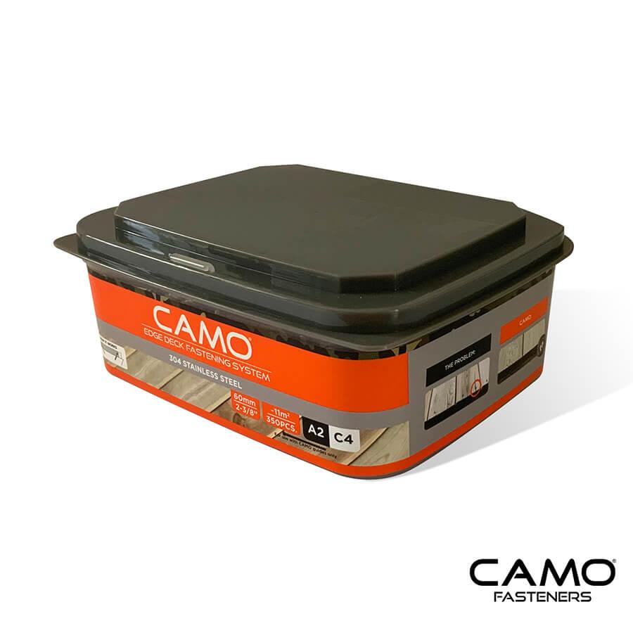 camo trallskruv 60 mm rostfri a2 350 st