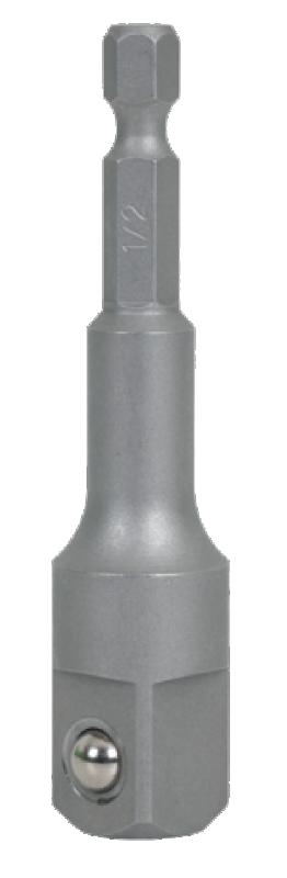 Hylsadapter/Fyrkantstapp 1/2 75mm, Bitsfäste