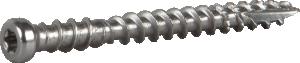 List-/sockel-/golvskruv för trä. Rostfritt stål