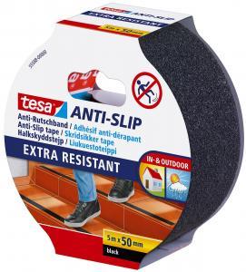 Halkskyddstejp Tesa Anti-slip Extra Resistant 50mmx5m, Svart