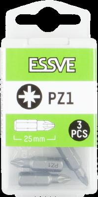 Bits PZ, 25mm, 3-pack