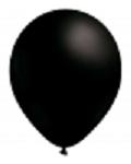BALLONG METALLIC SVART30 CM