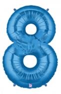 BALLONGSIFFRA 8 BLÅ