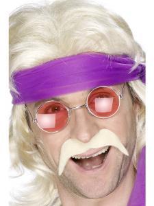 70-tals Mustasch blond
