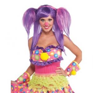 Peruk Clown lila