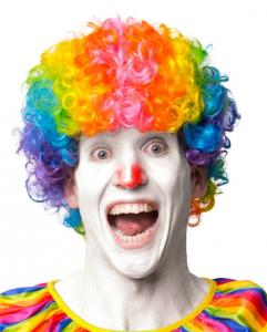 Peruk Clown vuxen
