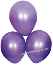 Ballong satin lila 6st
