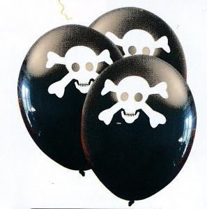 Ballong Dödskalle 6st