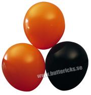Ballong Svart/Orange 10st