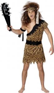 Caveman Costume, Brown, with Tunic, Headband & Armband