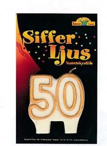 Sifferljus 50 guld