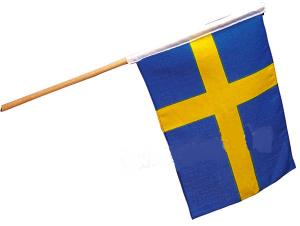 Svensk flagga tyg 40x30cm