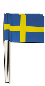 Svensk flagga i papper 24x20