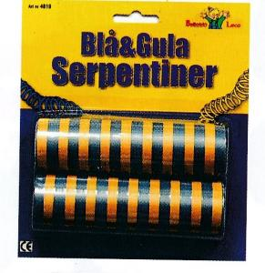 Serpentiner blå/gul 2st