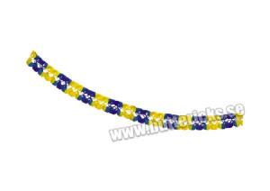 Girlang blå/gul 6m