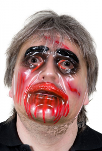 Zombie ansiktsmask genomskinlig