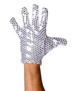 Michael glitter handske