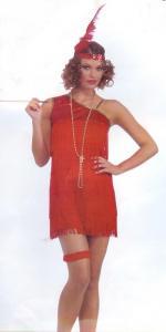 Charleston klänning Röd