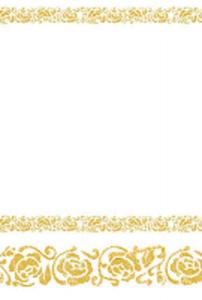 Guld duk vit/guld 120x180 cm