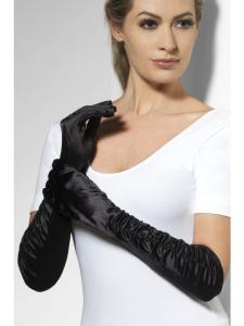 Handskar svarta långa