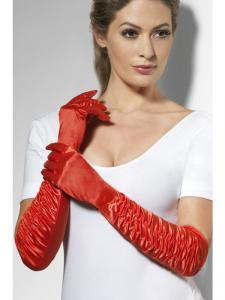Handskar röda långa