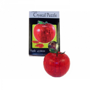 PUZZLE CRYSTAL APPLE RED