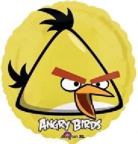 "FOLIEBALLONG ANGRY BIRD GUL 18"""