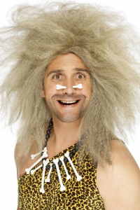 Crazy Caveman Wig, Blonde, Big