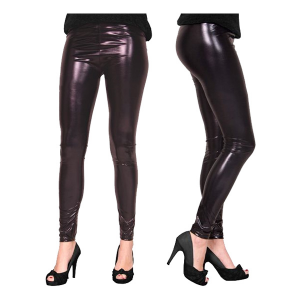 LEGGINGS METALLIC SVART