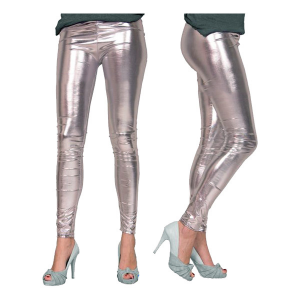 LEGGINGS METALLIC SILVER
