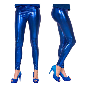 LEGGINGS METALLIC BLÅ