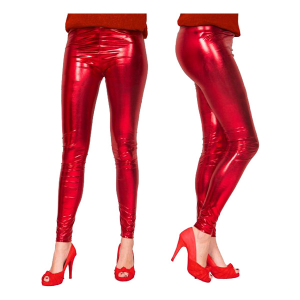 LEGGINGS METALLIC RÖD