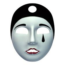 Ansiktsmask Pierrot
