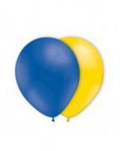 Ballong Blå/gula 10st