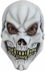 SKULL MASK BARN VIT
