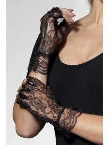 Handskar svart spets