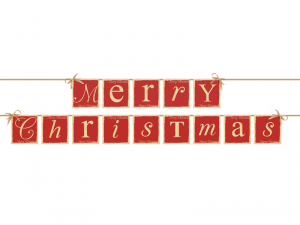 "BANNER  ""MERRY CHRISTMAS"""