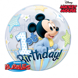 Mickey Mouse 1st Birthday Bubbles