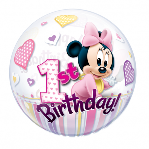 Minnie Mouse 1st Birthday Bubbles