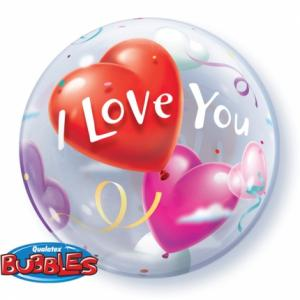 I Love You Hearts Bubble