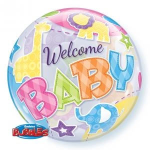 Welcome Baby Djur Bubbles