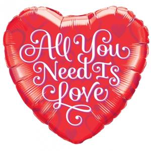 "18"" All You Need Is Love Folieballong"