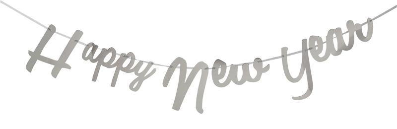 Banner Happy New Year Silver